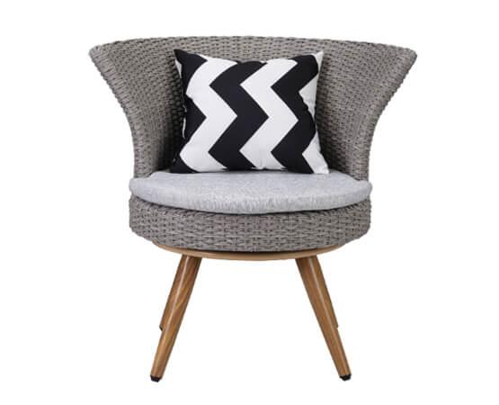 Garden Rattan Swivel Adjustable Wicker Chair