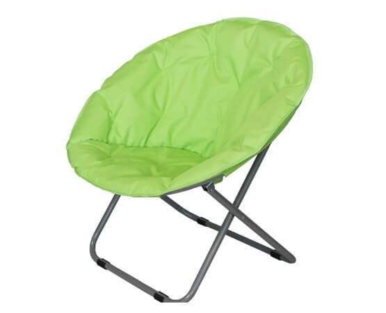 Green Folding Garden Metal Moon Chair