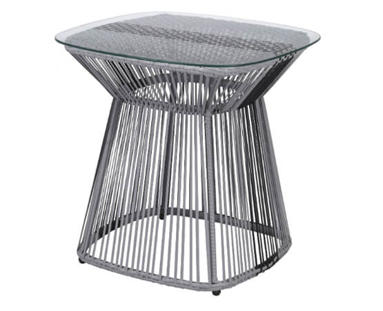 Rattan Garden Table With Glass