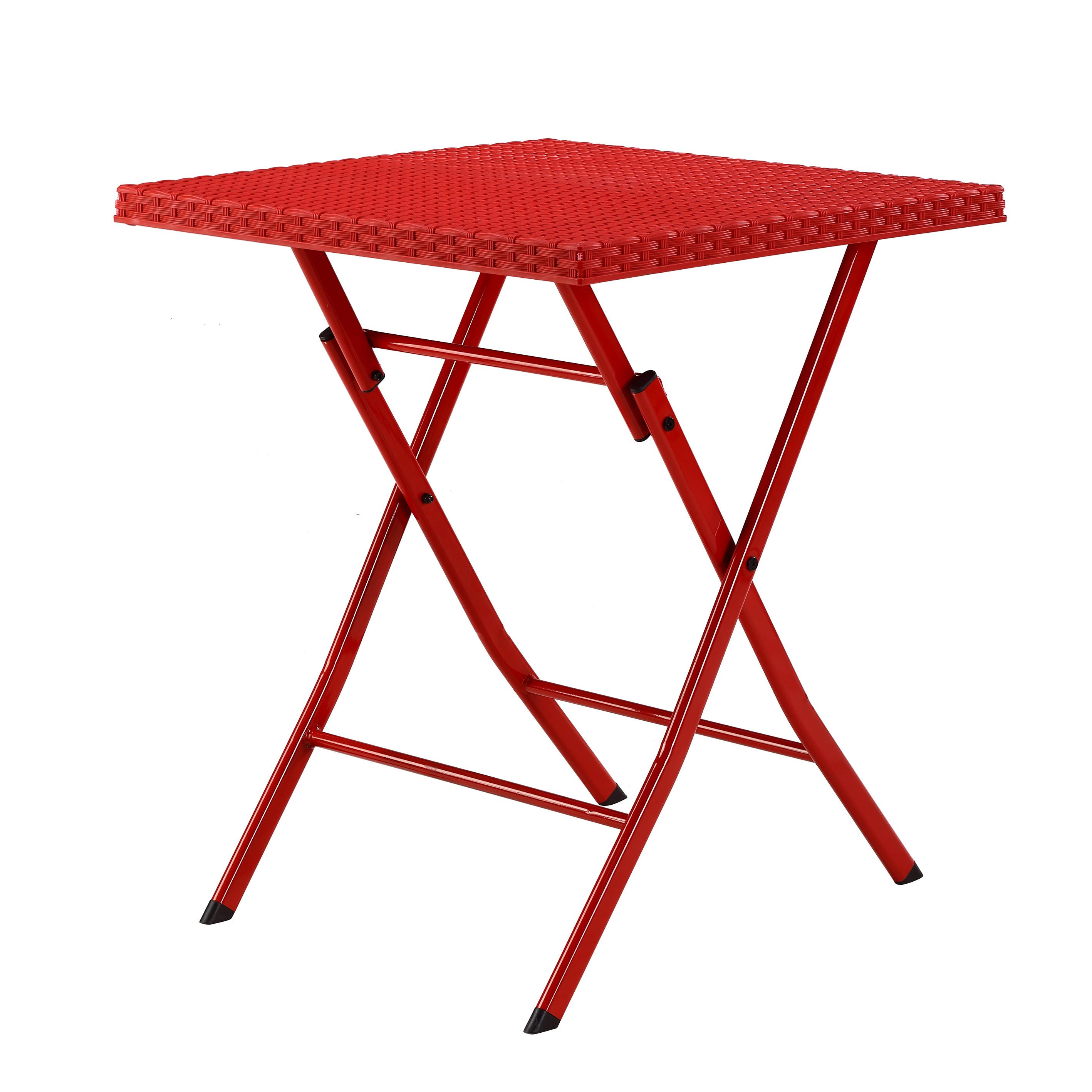 Red Foldable Plastic Table