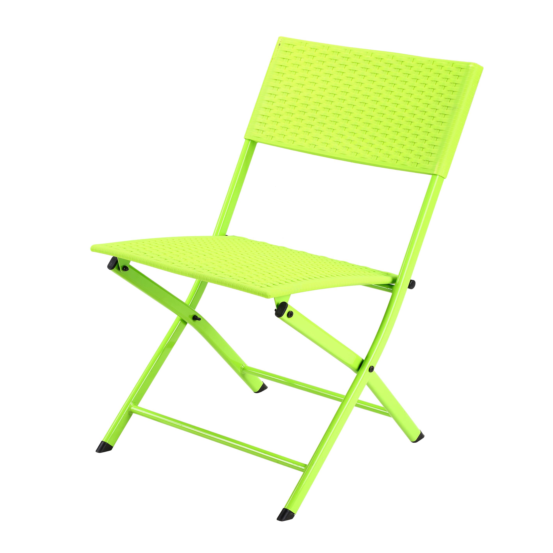 Plastic Rattan Wicker Folding Chair