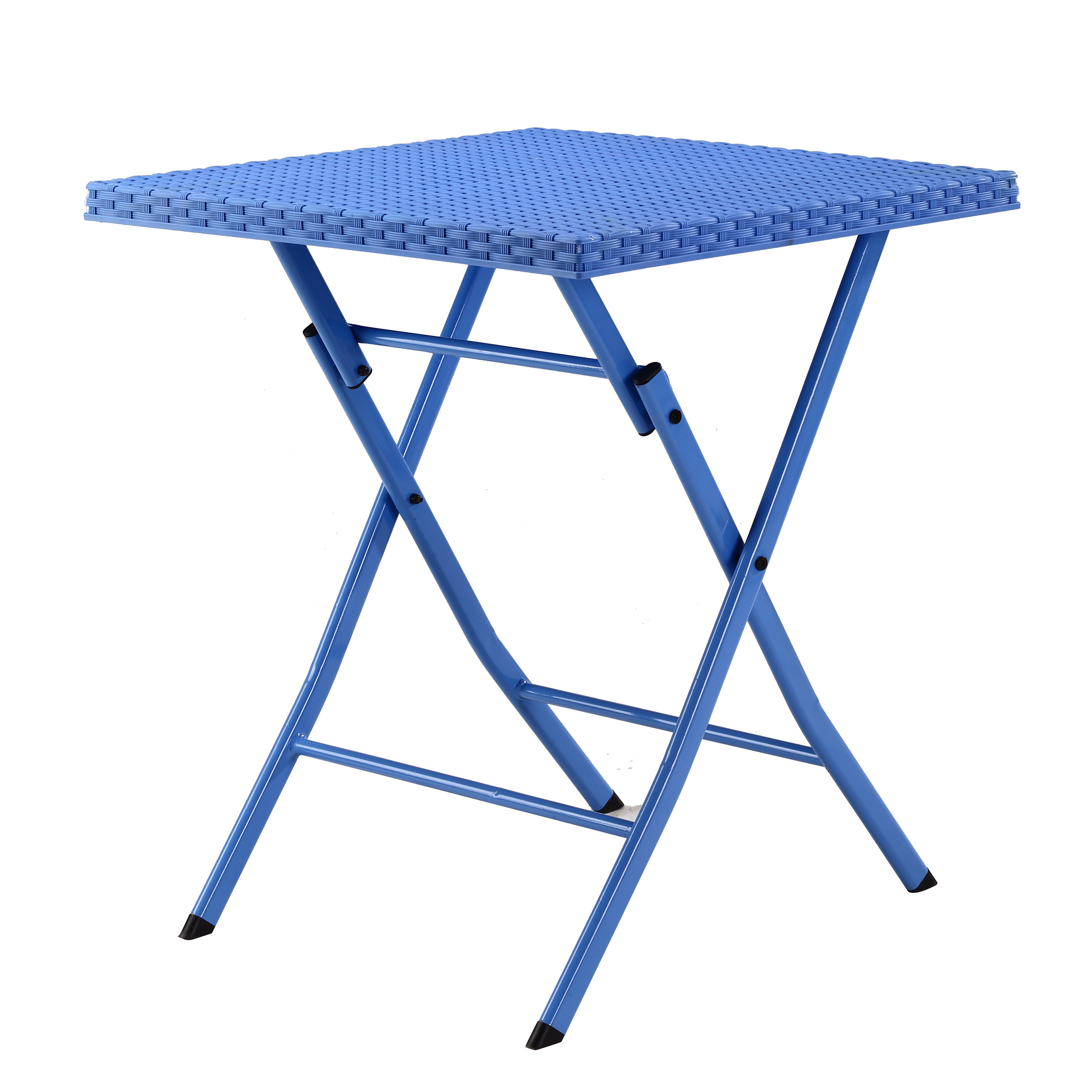 Blue Plastic Outdoor Table