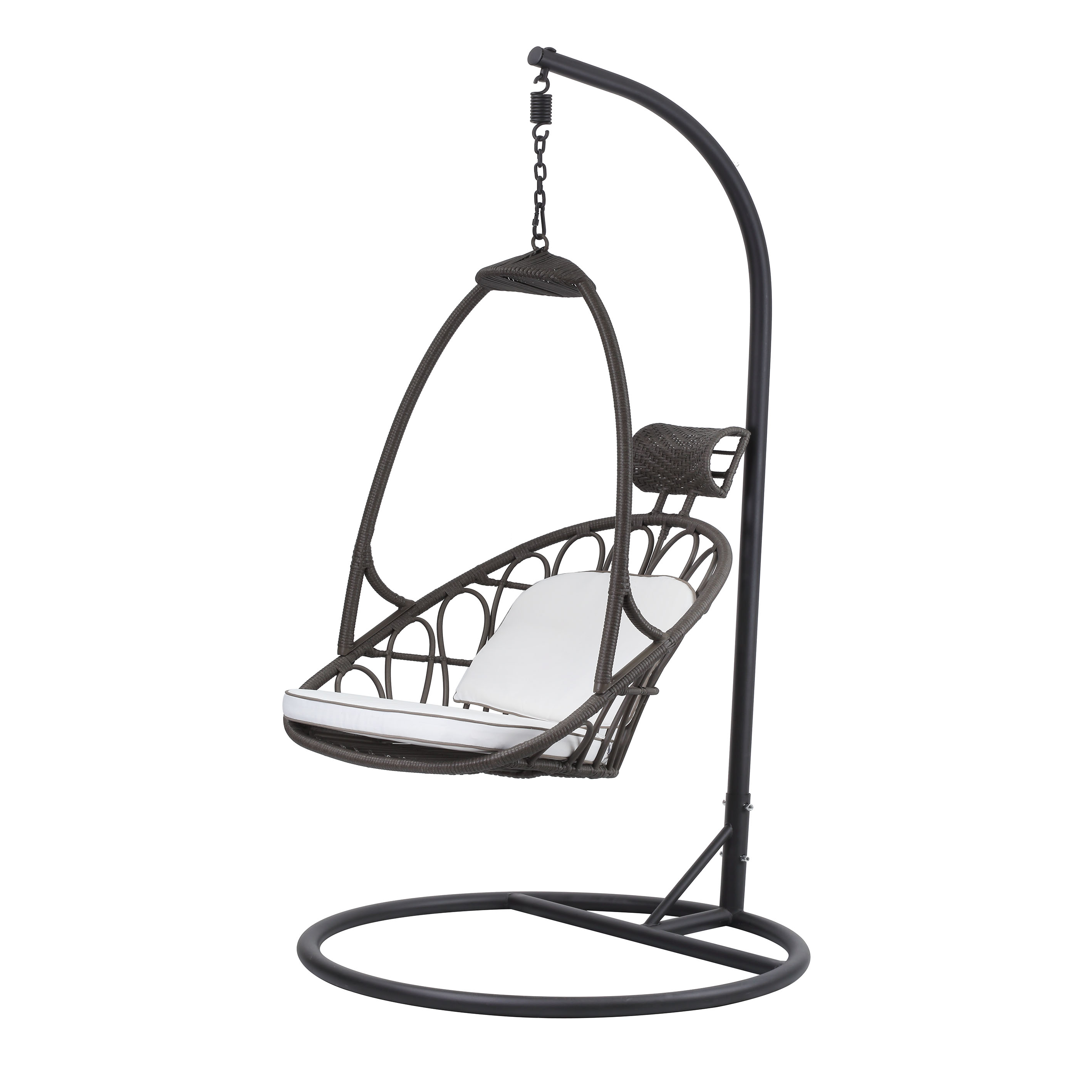 Wicker Rattan Hanging Swing Chair With Stand